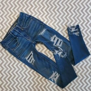 American Eagle distressed jeggings!